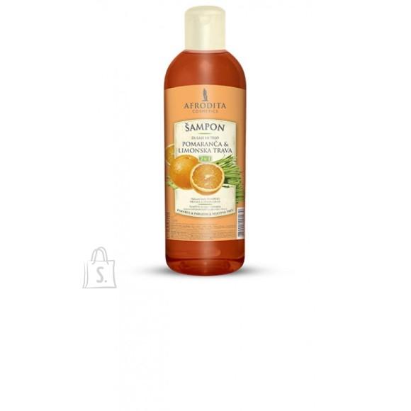 Afrodita Šampoon apelsini ja sidrunheinaga 1000 ml juustele ja kehale