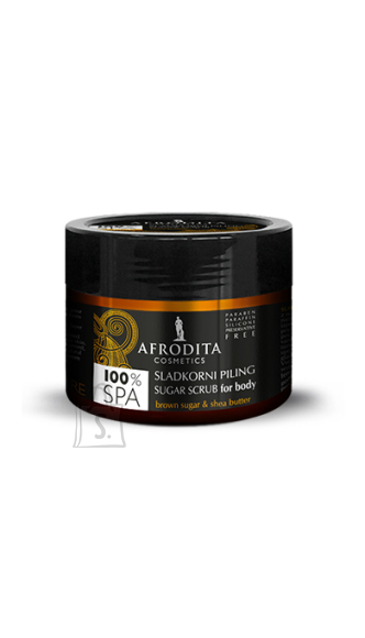 "Afrodita Afrodita 100% SPA ""Kehakoorija pruuni suhkru ja sheavõiga"" 175 g"