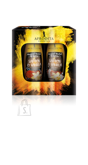 Afrodita Kinkekomplekt Saffron & Vanilla 2X250ml VEGAN TOODE