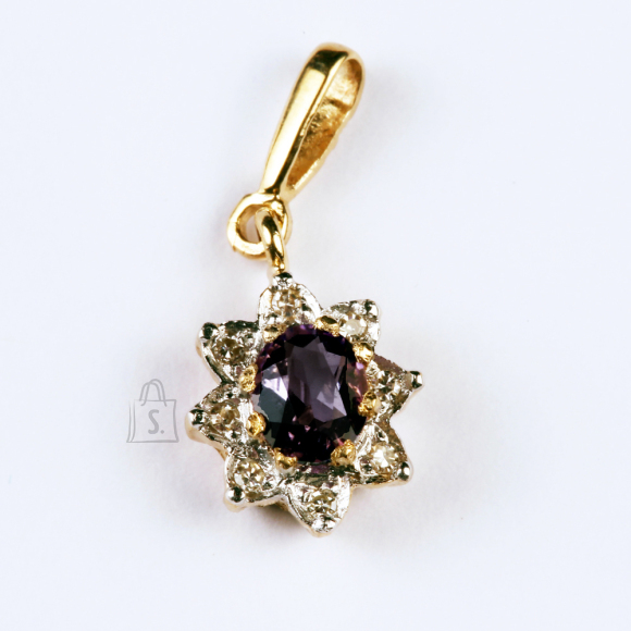 Kullast ripats safiiri ja teemantitega