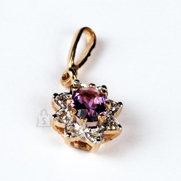 Kullast ripats ametüsti ja teemantitega