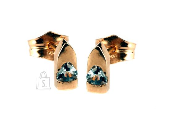 Kullast kõrvarõngad topaasidega