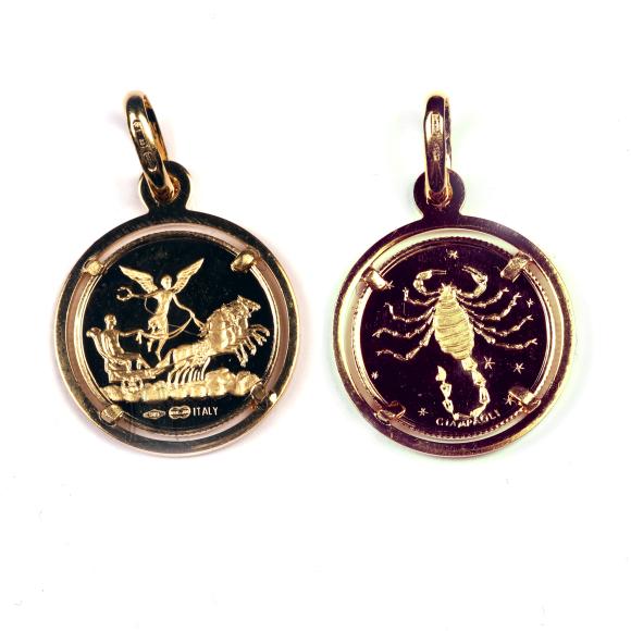 Kullast ripats skorpion