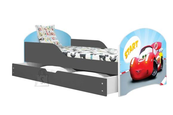 Lastevoodi voodipesukastiga Cars