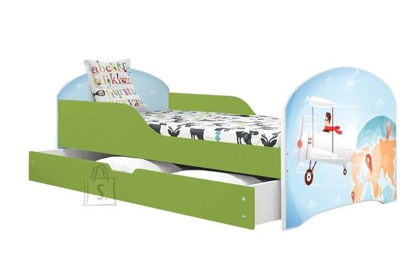 Lastevoodi voodipesukastiga Lennuk