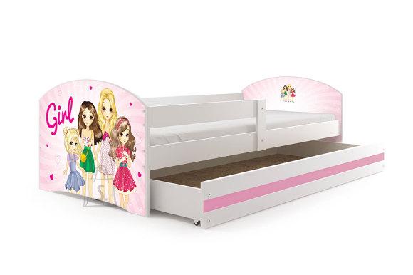 Lastevoodi voodipesukastiga Tüdrukud