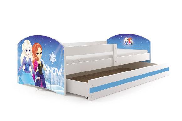 Lastevoodi voodipesukastiga Snow