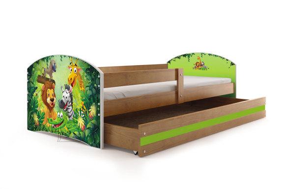 Lastevoodi voodipesukastiga Jungle