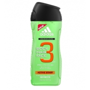 Adidas 3in1 Active Start meeste dušigeel 250 ml