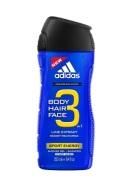 Adidas 3in1 Sport Energy meeste dušigeel 400 ml