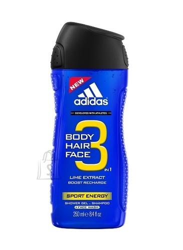 Adidas 3in1 Sport Energy meeste dušigeel 250 ml