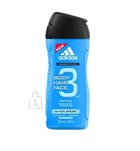 Adidas 3in1 After Sport meeste dušigeel 400 ml