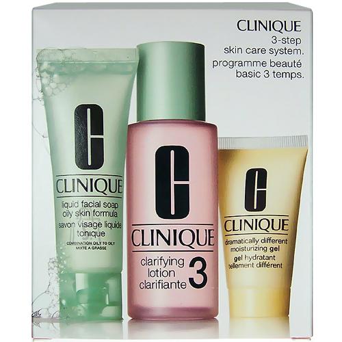 Clinique 3step Skin Care System3 näohoolduskomplekt 180 ml