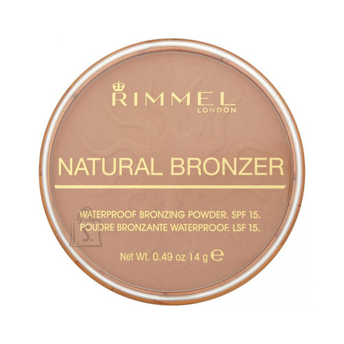 Rimmel London Natural Bronzer Waterproof SPF15 päikesepuuder Sun Kissed 14 g