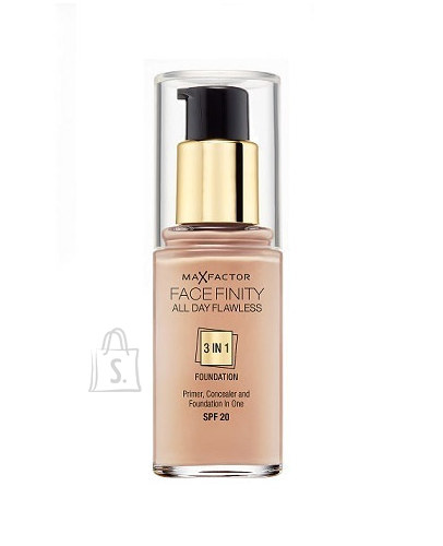 Max Factor Face Finity 3in1 Foundation SPF20 jumestuskreem 30ml