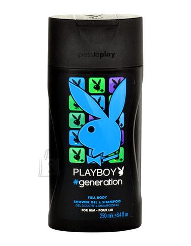 Playboy Generation For Him juuste- ja kehašampoon meestele 250 ml
