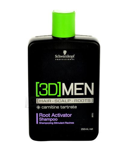 Schwarzkopf 3DMEN juuksekasvu soodustav šampoon 250 ml