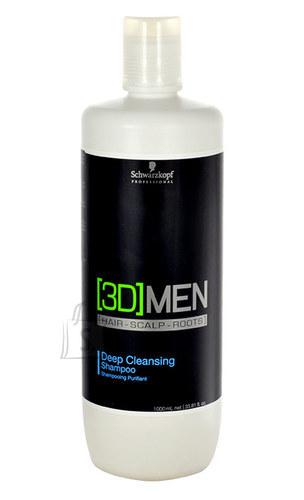 Schwarzkopf 3DMEN sügavpuhastav šampoon 1000 ml