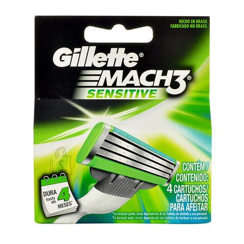 Gillette Mach 3 Sensitive žiletiterad 4 tk