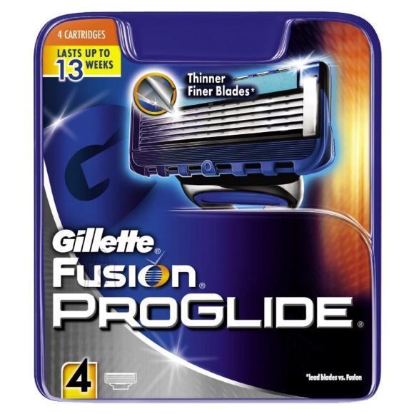 Gillette Fusion Proglide žiletiterad 4 tk
