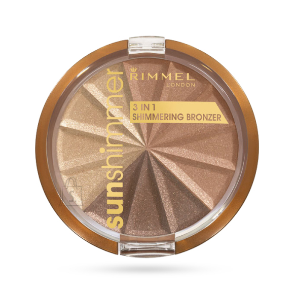 Rimmel London Sun Shimmer 3in1 päikesepuuder Bronze Goddess 9.9 g