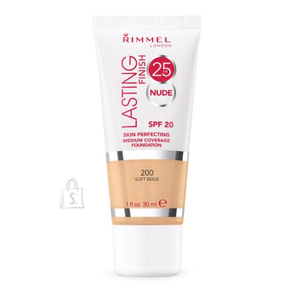 Rimmel London Lasting Finish 25h Nude Foundation jumestuskreem 30 ml Soft Beige