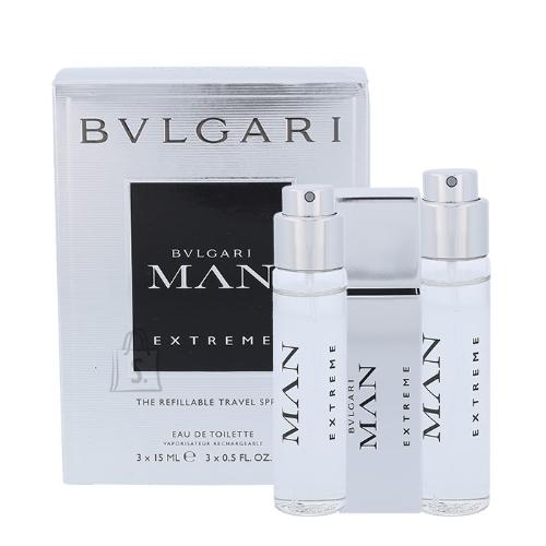 Bvlgari MAN Extreme tualettvesi meestele EDT reisikomplekt 3x15ml