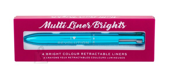 Makeup Revolution London I Heart Revolution Multi Eye Liner Brights 4 värviga silmapliiats
