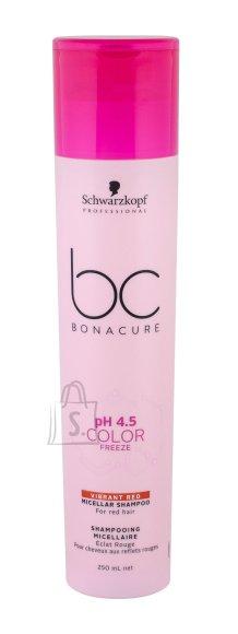 Schwarzkopf BC Bonacure pH 4.5 Color Freeze Vibrant Red Micellar värvikaitsešampoon 250ml