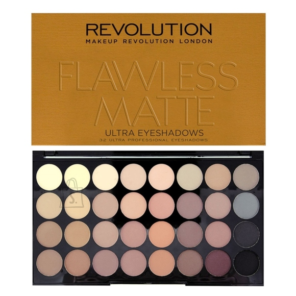 Makeup Revolution London Ultra 32 lauvärvi palett: Flawless Matte