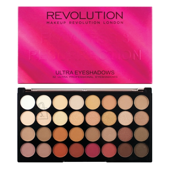 Makeup Revolution London Ultra 32 lauvärvi palett: Flawless 3 Resurrection