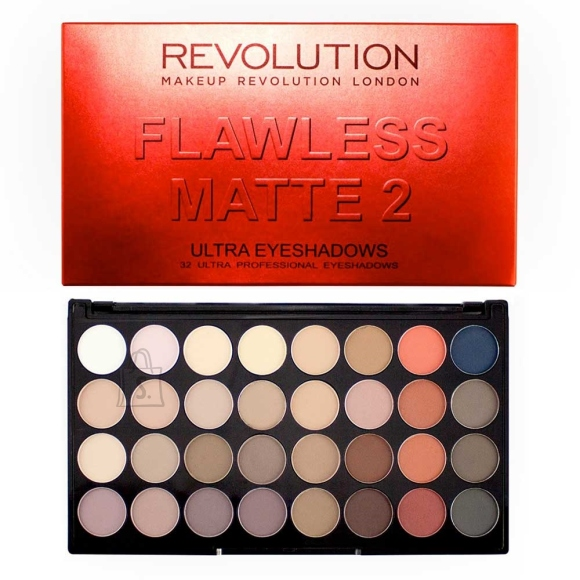 Makeup Revolution London Ultra 32 lauvärvi palett: Flawless Matte 2