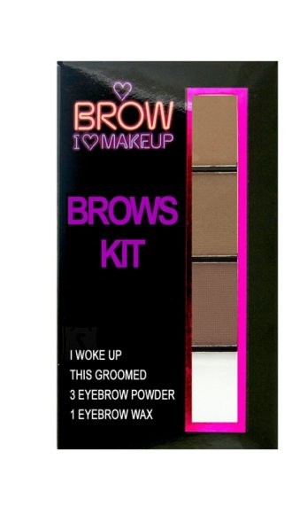 Makeup Revolution London I Heart Makeup Kit: I woke up this groomed