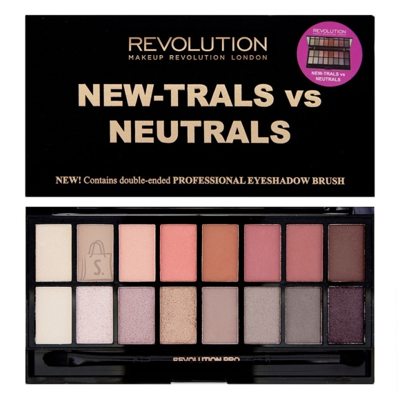 Makeup Revolution London lauvärvi palett: New-Trals vs Neutrals