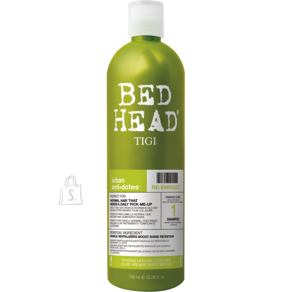 Tigi Bed Head Re-Energize šampoon 750 ml