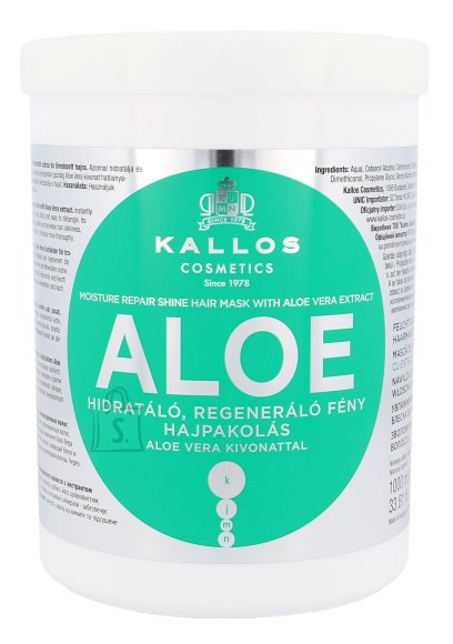 Kallos Cosmetics Aloe Vera Moisture Repair Shine juuksemask 1000ml