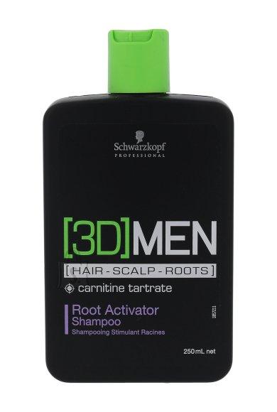 Schwarzkopf Professional 3DMEN juuksekasvu soodustav šampoon 250 ml