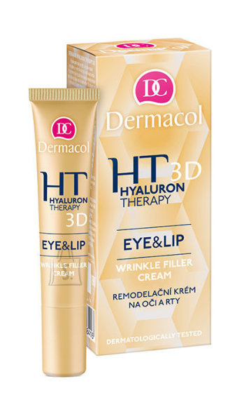 Dermacol Hyaluron Therapy 3D Eye & Lip Cream silma-ja huulekreem 15 ml