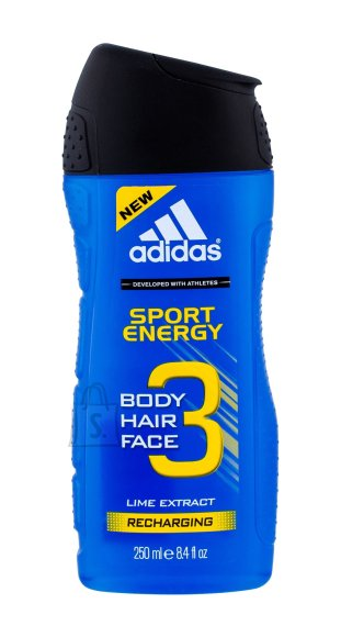 Adidas 3in1 Sport Energy meeste dušigeel 250 ml