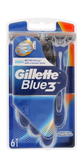 Gillette Blue3 raseerija 6 tk