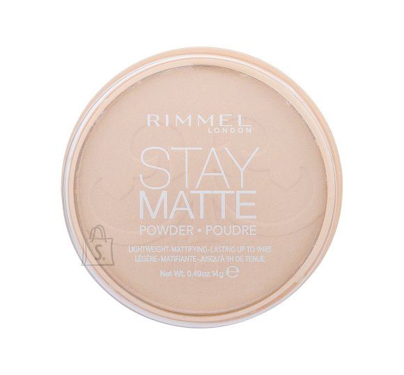 Rimmel London Stay Matte Long Lasting Pressed Powder kivipuuder Peach Glow 14 g