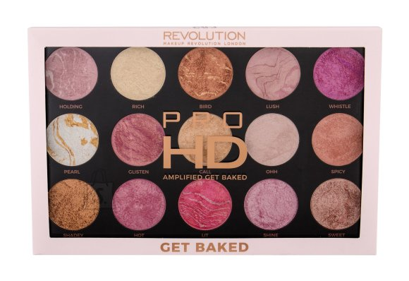 Makeup Revolution London Pro HD Amplified highlighteri ja põsepuna palett: Get Baked