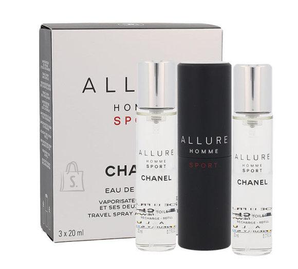 Chanel Allure Homme Sport lõhnakomplekt EdT 3x20 ml