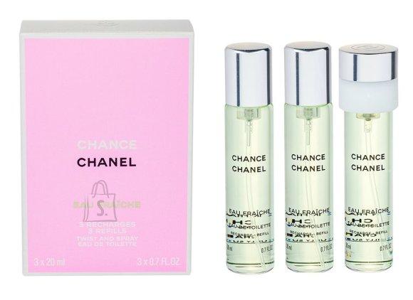Chanel Chance Eau Fraiche tualettvesi naistele EdT 3x20ml