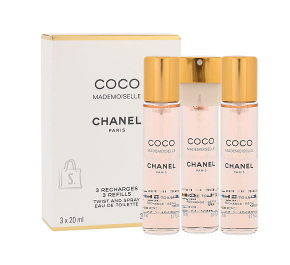 Chanel Coco Mademoiselle tualettvesi naistele EdT 3x20ml