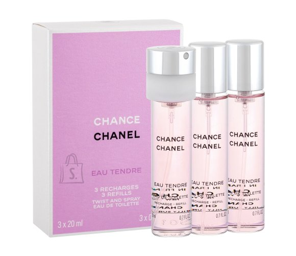 Chanel Chance Eau Tendre tualettvesi naistele EdT 3x20ml