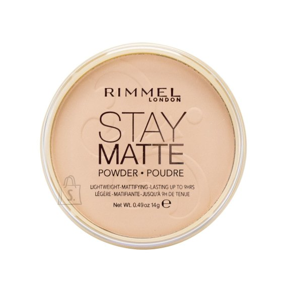 Rimmel London Stay Matte Long Lasting Pressed Powder kivipuuder 14 g Silky Beige