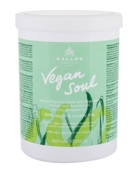 Kallos Cosmetics Vegan Soul Hair Mask (1000 ml)