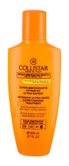 Collistar Intensive Ultra-Rapid Supertanning Treatment SPF6 päevituskreem 200ml