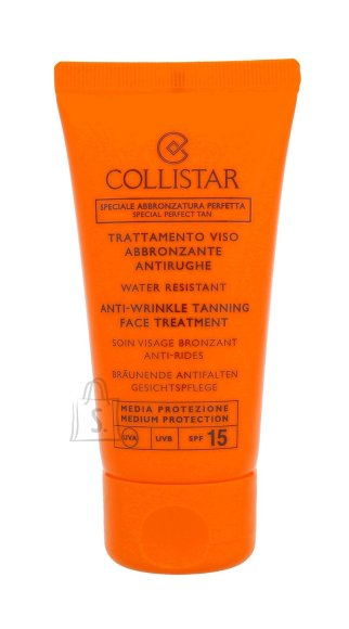 Collistar Anti-Wrinkle Tanning Face Treatment SPF15 päikesekaitsekreem 50 ml